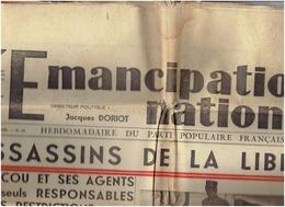 L émancipation Nationale Du 10  Octobre 36- PPF -DORIOT - DRIEU La ROCHELLE ..(4scans) - Journaux - Quotidiens