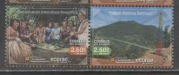 ECUADOR , 2017, MNH, ECOTOURISM, AMAZON, TRIBES, BRIDGES, MOUNTAINS, 2v - Holidays & Tourism