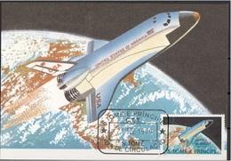 533 S. Tomé E Principe 1979  Aircraft - Maximum Card - Space Shuttle (1981) - Aerei Avion Maxi - FDC & Conmemorativos