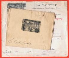 Courrier Commercial + Maquette Gravure (Stern Paris) LA MONTRE PONCTUA Usine à TAVANNES BE Berne & 75009 Paris - Invoices & Commercial Documents