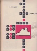 (pagine-pages)PUBBLICITA' OLIVETTI  Epoca1955/284r. - Altri