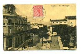AK / CP>, #* MANÁOS, Rua Municipal ( Brasilien)*#, Gelaufen - Manaus