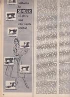(pagine-pages)PUBBLICITA' SINGER  Epoca1955/285r. - Livres, BD, Revues