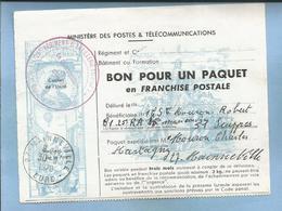25e Régiment D'Artillerie Lourde Divisionnaire Le Commandant D'Unité 3e Ou 8e Batterie De Châlons à Suippes Mainneville - Franchise Militaire (timbres)