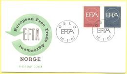 NORVEGIA - NORWAY - NORGE - 1967 - EFTA - FDC - FDC