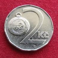 Czech Republic 2 Koruny 1993 KM# 9 Tcheque Tschechien Czechia Checa Ceka - Tchéquie
