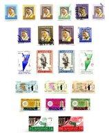KUWAIT, Commemoratives, Yv 214/31 Disc., 263/68, 272/73, 277/78, 282, 284, */o M/U, F/VF, Cat. € 31 - Koweït