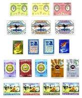 KUWAIT, Commemoratives, Yv 287/89, 298/300, 309/10, 325/26, 329/31, 338/39, 375/78, * MLH, F/VF, Cat. € 23 - Koweït