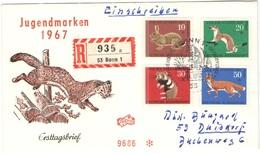 GERMANIA - GERMANY - Deutschland - ALLEMAGNE - 1967 - Jugendmarken - FDC - Bonn - Einschreiben - Registered - [7] Repubblica Federale