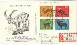 GERMANIA - GERMANY - Deutschland - ALLEMAGNE - 1966 - Jugendmarken - FDC - Bonn - Einschreiben - Registered - [7] Repubblica Federale