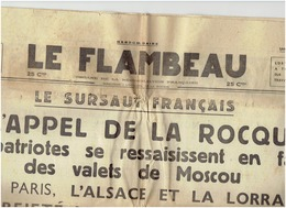 LE FLAMBEAU Du 17 Octobre 1936 ; DE LA ROCQUE - Journaux - Quotidiens
