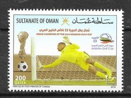 OMAN 2018 MiNr. 866 SOCCER FOOTBALL Goalkeeper ARABIAN GULF CUP 1v MNH ** 2,00 € - Football