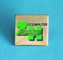 1 PIN'S  //   ** ZH COMPUTER INC ** - Computers
