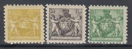 1920  YVERT Nº  44B, 45B, 49B,  /*/, Dt. 9½ - Liechtenstein