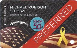 Station Casinos Las Vegas, NV - Slot Card Copyright 2014 & Senior Sticker - Casino Cards