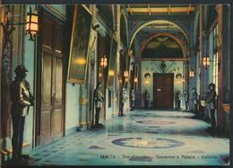 °°° 11077 - MALTA - VALLETTA - THE CORRIDOR - GOVERNOR'S PALACE - 1971 With Stamps °°° - Malta