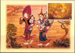 RELIGION- BUDDHISM - CELEBRATIONS- VISAKAPUJA DAY- MAXIMUM CARD - THAILAND-1998- MNH-MC-57 - Buddhism