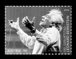 Austria 2018 Mih. 3418 Music. Composer Leonard Bernstein MNH ** - 1945-.... 2nd Republic