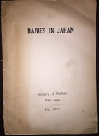 Rabies In Japan Ministry Of Welfare Tokyo 1952 - Books, Magazines, Comics
