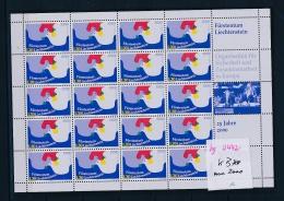 Liechtenstein  Aus 2000  ** Bogen (bg2442  ) Siehe Scan ! - Blocks & Kleinbögen