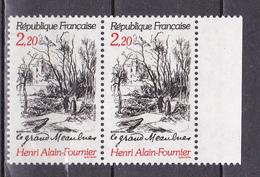 N° 2443 Centenaire De La Naissance D'Henri Alain Fournier :  Une Paire De 2Timbres Neuf Impeccable - France