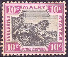 MALAYA 1904 10 Cents Black & Claret SG43b MH - Malayan Postal Union