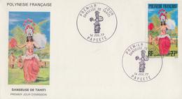 Enveloppe  1er Jour  POLYNESIE      Danseuse  De  TAHITI    1977 - FDC