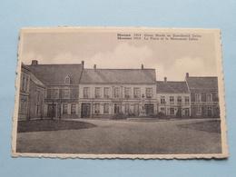 Grote Markt En Standbeeld DELEU Meessen / Messines 1914 ( Denys-Van Lede ) Anno 19?? ( Zie Foto's ) ! - Mesen