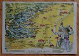L'Alsace Vous Invite - Carte-lettre - Association Départementale Du Tourisme Du Haut-Rhin - Colmar - Tombola - (n°13022) - Alsace