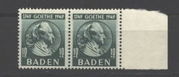 Baden,47,Type I-II Im Paar,xx (5290) - Französische Zone