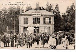 Tillière - Sur - Avre   La Gare , Le 8 Mai 1916 , Aprés L'arrivée Du Train - Tillières-sur-Avre