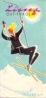 Brochure Dépliant Faltblatt Toerisme Tourisme - Lienz - Ost Tyrol   Austria 1955 - Skimap - Dépliants Touristiques