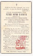 DP Petrus V. Dionys ° Tielen Kasterlee 1865 † 1937 X Maria R. Bisschops - Images Religieuses