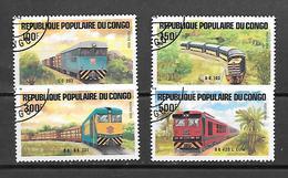 TIMBRE OBLITERE DU  CONGO BRAZZA DE 1984 N° MICHEL 963/66 - Congo - Brazzaville