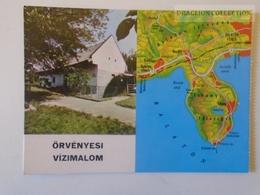 D161016  Map Carte Karte - Örvényes Vízimalom -Watermill Moulin Molen Mühle  -Balaton Tihany - Landkaarten