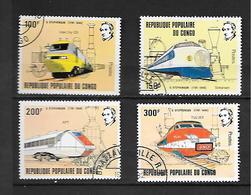 TIMBRE OBLITERE DU  CONGO BRAZZA DE 1982 N° MICHEL 855/58 - Congo - Brazzaville