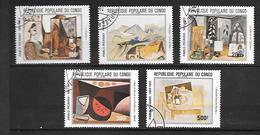 TIMBRE OBLITERE DU  CONGO BRAZZA DE 1981 N° MICHEL 827/31 - Congo - Brazzaville