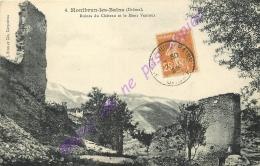 26. MONTBRUN LES BAINS . Ruines Du Chateau Et Le Mont Ventoux . - Autres Communes