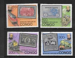 TIMBRE OBLITERE DU  CONGO BRAZZA DE 1979 N° MICHEL 680/83 - Congo - Brazzaville
