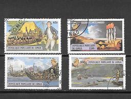 TIMBRE OBLITERE DU  CONGO BRAZZA DE 1979 N° MICHEL 670/73 - Congo - Brazzaville