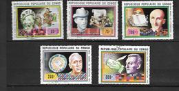 TIMBRE OBLITERE DU  CONGO BRAZZA DE 1978 N° MICHEL 620/24 - Congo - Brazzaville