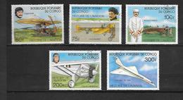 TIMBRE OBLITERE DU  CONGO BRAZZA DE 1977 N° MICHEL 593/97 - Congo - Brazzaville