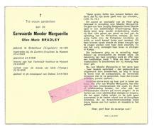 Z 241. E.Moeder Marguerite (Olive-Marie BRADLEY) -°BIRKENHEAD (Engelend) /HAMONT/HASSELT/UELE (KONGO)/+DAKWA1964 - Devotion Images