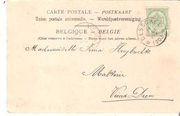 C.P. TP. N° 56 Dépôt-relais De DESSCHEL Du 17/8/1903 V/Malteie à Vieux-Dieu. TB - Postmarks With Stars