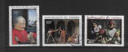 TIMBRE OBLITERE DU  CONGO BRAZZA DE 1968 N° MICHEL 148/50 - Congo - Brazzaville