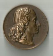 """917 """"BLAISE PASCAL-NE' A CLERMONT (AUVERGNE) 1623-MORT A PARIS 1662 """" MEDAGLIA  ORIG - Italy"""