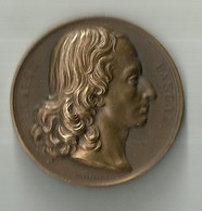 "917 ""BLAISE PASCAL-NE' A CLERMONT (AUVERGNE) 1623-MORT A PARIS 1662 "" MEDAGLIA  ORIG - Italia"