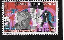 TIMBRE OBLITERE DU  CONGO BRAZZA DE 1966 N° MICHEL 107 - Congo - Brazzaville
