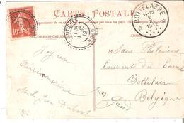 C.P. TP. 138 De FRANCE De COUTICHES/NORD V/Dépôt-relais De BOTTELAERE Du 2/10/1912. TB - Postmarks With Stars