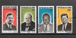 TIMBRE OBLITERE DU  CONGO BRAZZA DE 1965 N° MICHEL 71/74 - Oblitérés
